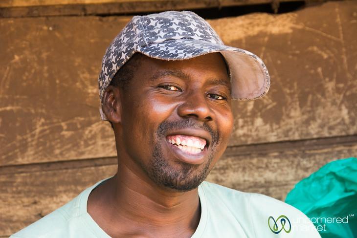 Market Vendor, Big Smile - Mengo Market, Kampala