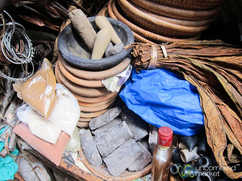 Traditional Medicine Section of the Owino Market in Kampala, Uganda