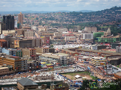 Kampala Skyline, Taken from Gaddafi Mosque - Kampala, Uganda