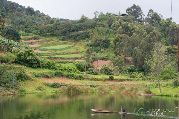 Dugout Canoe on Lake Bunyonyi, Uganda