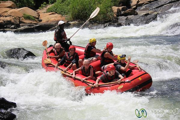 Going Down Nile River Rapids - Jinja, Uganda