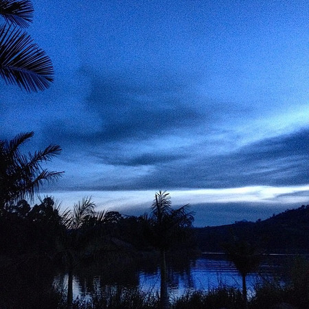 Night falls on Lake Bunyonyi. A view from our tent, as we turn in for a few hours before some early morning gorilla trekking. This is Uganda. via Instagram http://ift.tt/1hviaA3