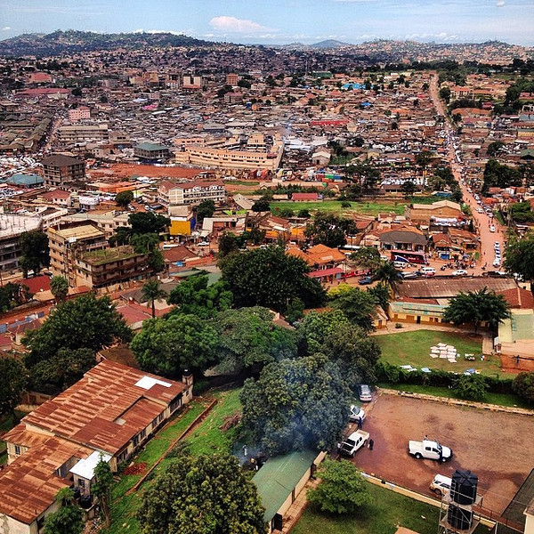 Took a motorbike tour of Uganda's capital, Kampala, today. This slice of the city was taken from the top of the National (Gaddafi) Mosque. Includes a piece of the sprawling Owino Market and madness of the central minibus park. via Instagram http://ift.tt/1ltThIY
