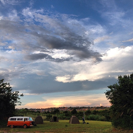 The spirit of adventure. A VW van, tents, a sunset on the edge of Kampala, Uganda. Step back and when you do, sometimes what's possible is revealed in fascinating ways. This is Africa. #skyporn via Instagram http://ift.tt/1iwWNCl