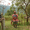 Pygmy lady now living in village, rather than former forest home. Bwindi, Uganda