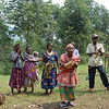 Pygmies performing for me--I suspect they get bored doing this for visitors. Bwindi, Uganda