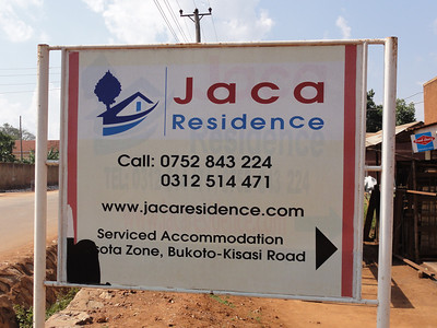 We stayed at the Jaca Residence while in Kampala.