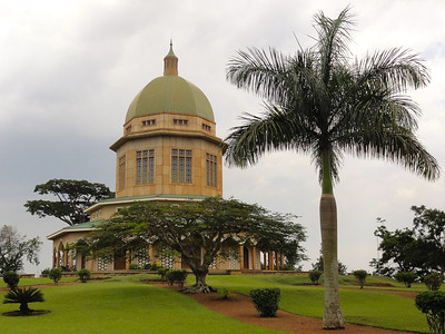 Bahá'í temple in Kampala, Uganda.  The Mother Temple of Africa is situated on Kikaaya Hill, in Kawempe Division, in northern Kampala, Uganda's capital and largest city. It was designed by Charles Mason Remey. Its foundation stone was laid in January 1958, and it was dedicated on January 13, 1961.