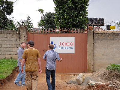Ed, Jeff & Eric outside the gate of the Jaca Residence.
