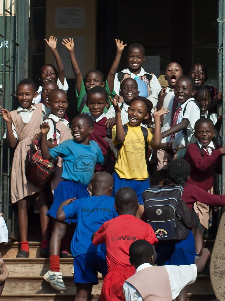 School children; Kampala; Uganda