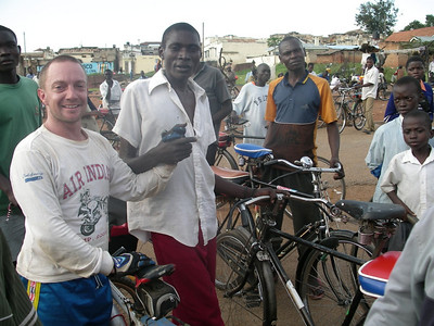 after racing with this boda boda driver for some distance, he was happy to tell his colleagues he was still the fastest man in eastern uganda
