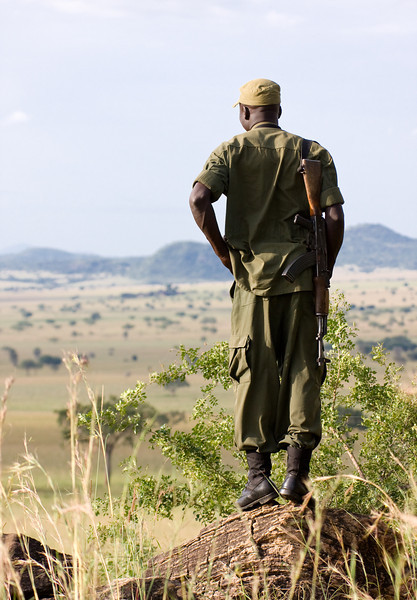 A park ranger keeps watch over his realm.<br /> <br /> Location: Kidepo Valley National Park, Uganda<br /> <br /> Lens used: 100-400mm f4.5-5.6 IS