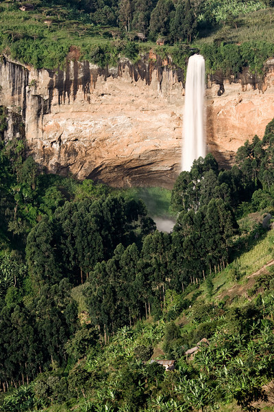 The furthest down but tallest of the three 'Sipi Falls' cascades.<br /> <br /> Location: Sipi Falls, Uganda<br /> <br /> Lens used: 100-400mm f4.5-5.6 IS w/Vari-ND Duo filter