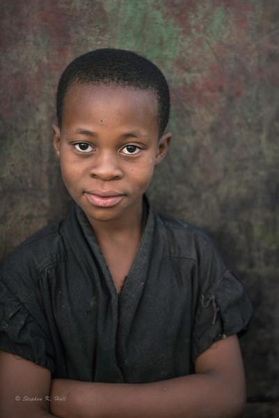 Young Rwanda girl