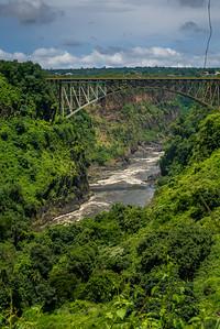 The bridge connecting Zambia and Zimbabwe