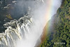 Rainbow over Victoria Falls as seen from Helicopter