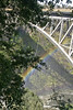 Bungy Jumping from bridge at Victoria Falls