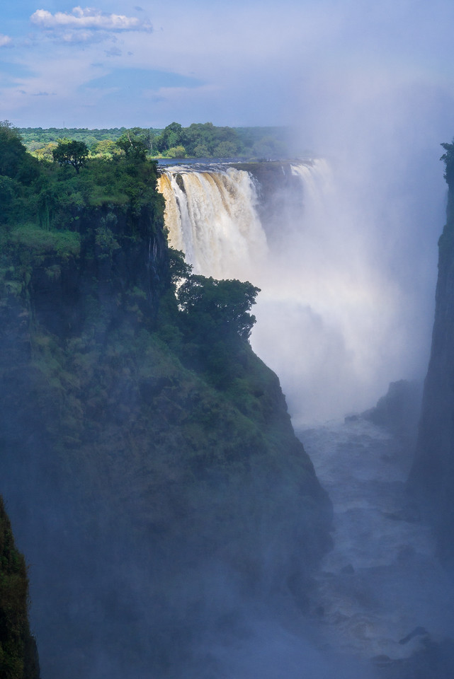 Viewing Victoria Falls from Zimbabwe.