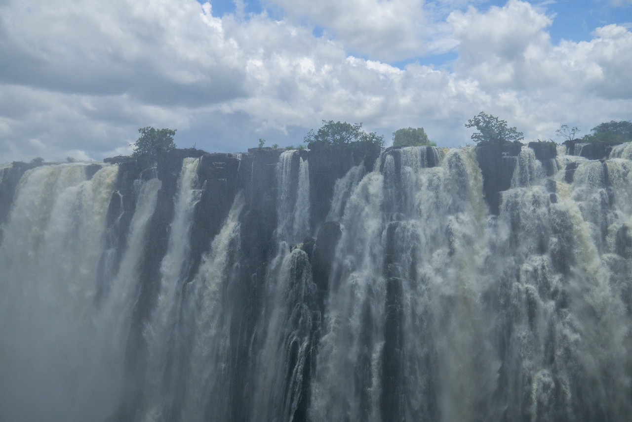 Viewing Victoria Falls from the Zambia.