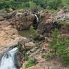 Our trip to the Botanical Gardens in Nelspruit was lovely.  The gardens are noted for a tremendous waterfall; this is what can still be seen in the dry season....