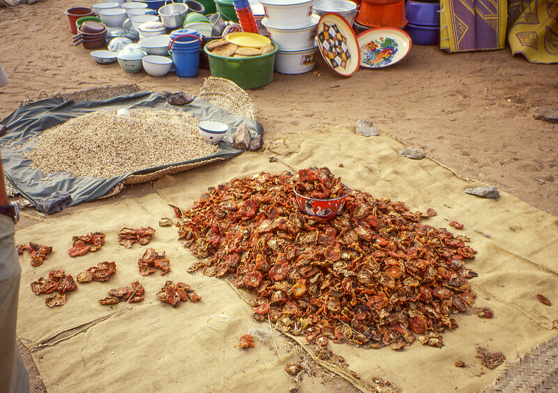 Dry food on the market.
