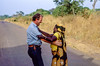 Tourleader dancing with Africa