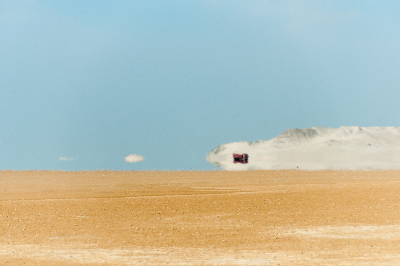 The desert in Dakhla, Western Sahara