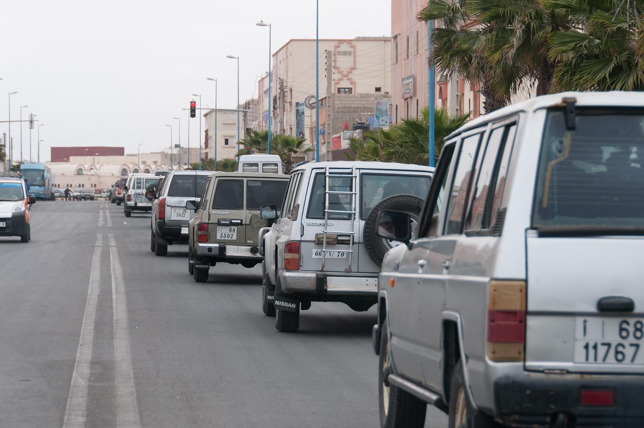 Street scene in Dakhla, Western Sahara