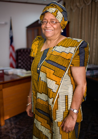 (Assigmnet Images - Embargoed for Focus - Park Avenue) Monrovia, Liberia, on  Wednesday, January 17, 2007, Liberian President Ellen Johnson-Sirleaf - first elected Female head of state in Africa.