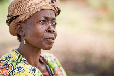 Portrait of a Liberian woman in Tubmanburg, Liberia.