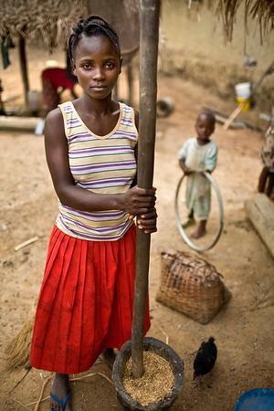 Village life in Liberia