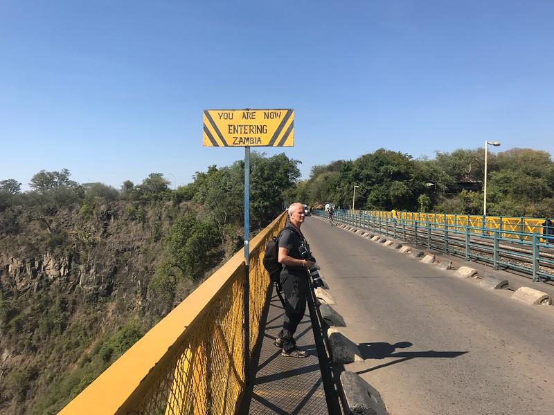 Zambiya / Zimbabve sınırı