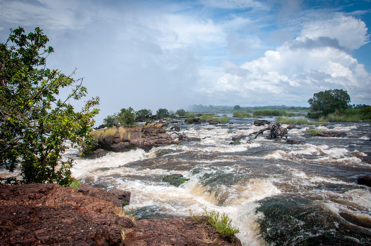 Zambezi River in Mosi oa Tunya National Park, Zambia