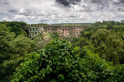 Zambezi Bridge in Mosi oa Tunya National Park, Zambia