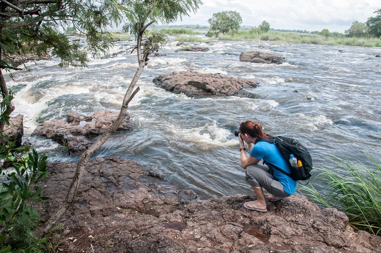 Zambezi River in Mosi oa Tunya National Park, Zambia
