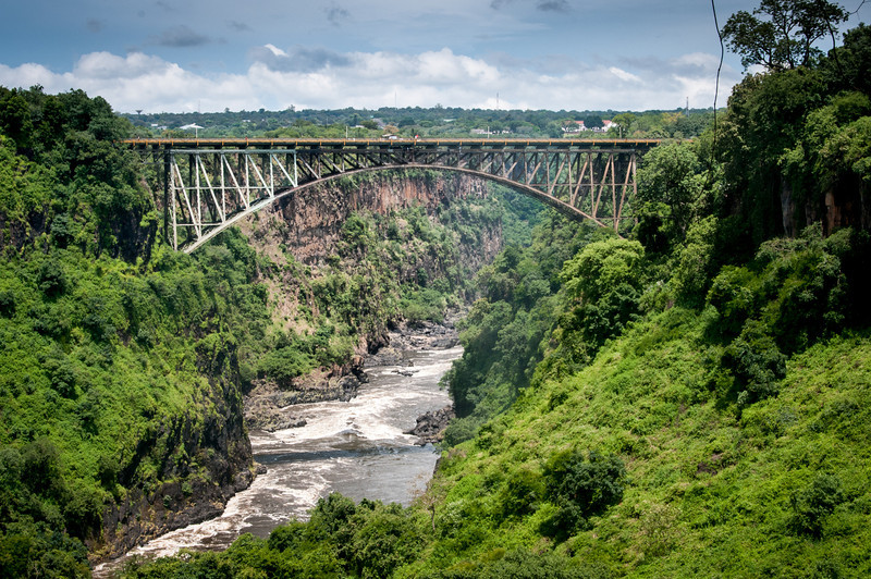 Zambezi Bridge in Mosi oa Tunya National Park, Zambia