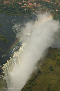 Victoria Falls from the the helicopter in Zambia, Africa