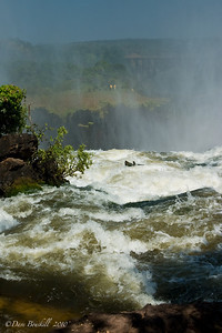 Devils pool at the top of Victoria Falls in Zambia, Africa