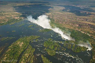 Overhead view of Victoria Falls, Zambia, Africa