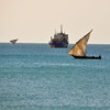 The Zanzibar dhow, one of the signature images of the island. Stone Town, Zanibar