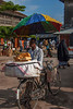 Bread vendor, Darajani Market, Stone Town,  Zanzibar, Tanzania, Africa.  March 2008