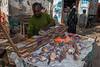 Spice vendor, Darajani Market, Stone Town,  Zanzibar, Tanzania, Africa.  March 2008