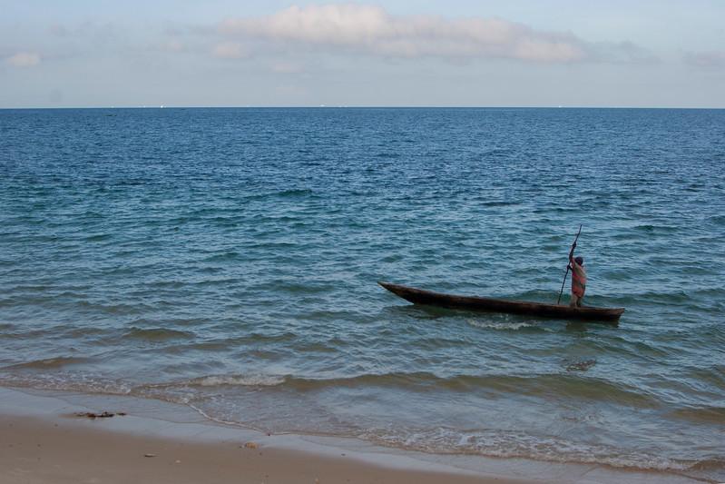 Ngalawa (outrigger canoe), Zanzibar, Tanzania, Africa. March 2008