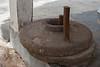 Flour stone grinder, Nungwi Cultural Villeage, Zanzibar,  Tanzania, Africa.  March 2008