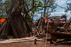 Traditional dhow building, Nungwi, Zanzibar,  Tanzania, Africa.  March 2008