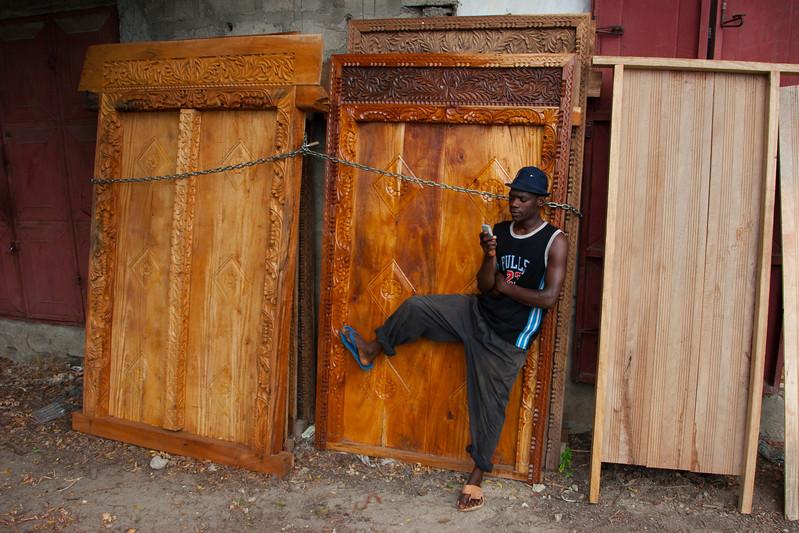 Carpentry, Zanzibar, Tanzania, Africa. March 2008