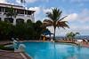 Pool terrace, Zanzibar Serena Hotel, Stone Town, Zanzibar, Tanzania, Africa.  March 2008