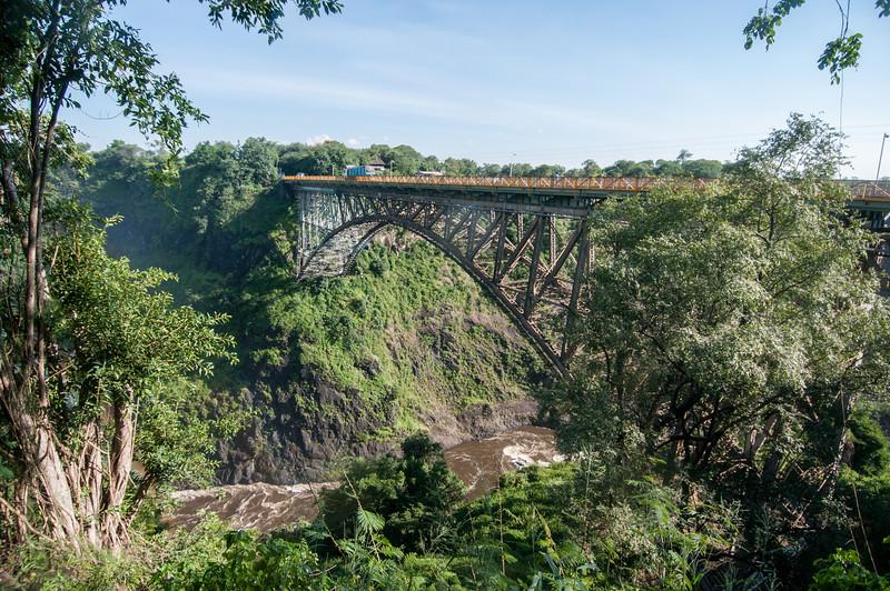 Victoria Falls Bridge in Zimbabwe