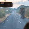 slow moving traffic along a Zimbabwe road