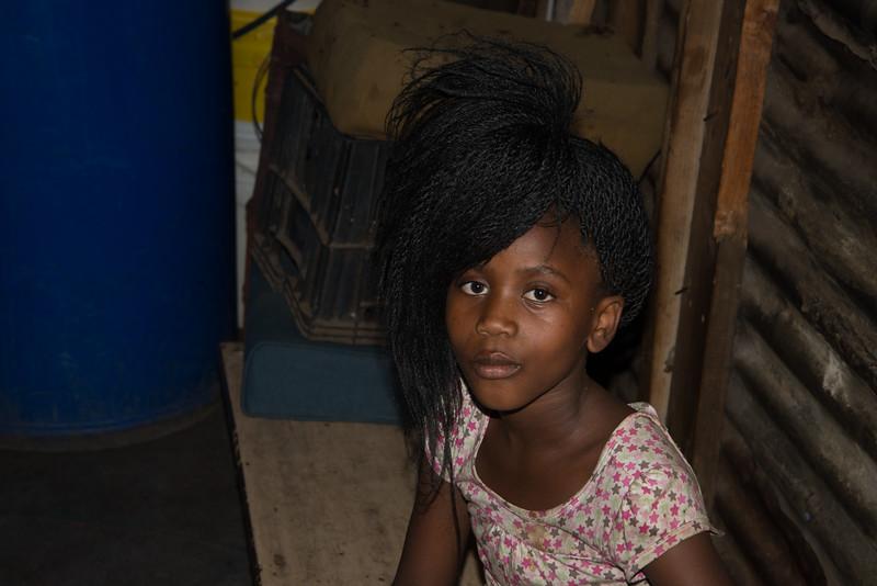 Little girl outside of Langa Township